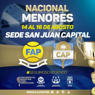 Continental Padel Federation CAPF National Juniors San Juan Argentina