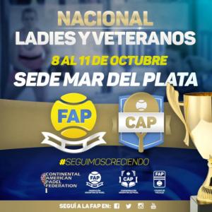 Continental Padel Federation NATIONAL LADIES AND SENIORS Tournament in Mar del Plata Argentina